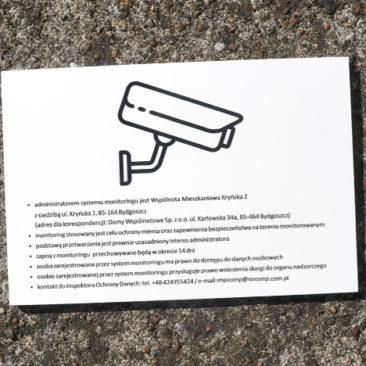 tabliczka ostrzegania monitoring